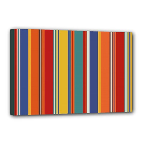Stripes Background Colorful Canvas 18  X 12  by Simbadda