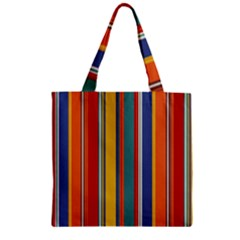Stripes Background Colorful Zipper Grocery Tote Bag by Simbadda