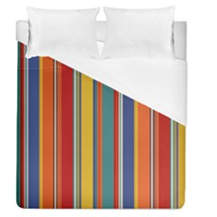 Stripes Background Colorful Duvet Cover (queen Size) by Simbadda