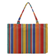 Stripes Background Colorful Medium Tote Bag by Simbadda