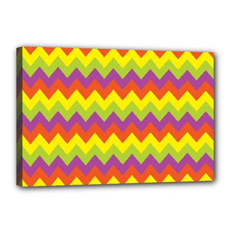 Colorful Zigzag Stripes Background Canvas 18  X 12  by Simbadda