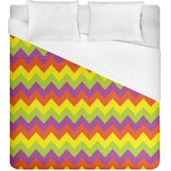 Colorful Zigzag Stripes Background Duvet Cover (king Size)