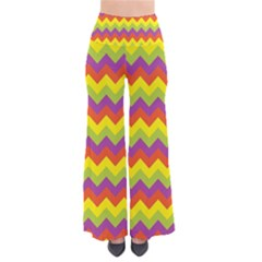Colorful Zigzag Stripes Background Pants