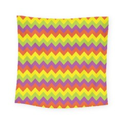 Colorful Zigzag Stripes Background Square Tapestry (small) by Simbadda