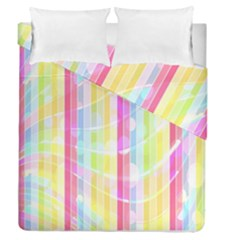 Abstract Stripes Colorful Background Duvet Cover Double Side (queen Size)