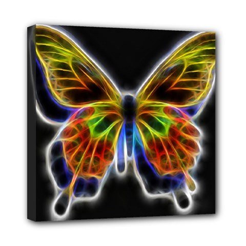 Fractal Butterfly Mini Canvas 8  X 8  by Simbadda