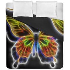 Fractal Butterfly Duvet Cover Double Side (california King Size)