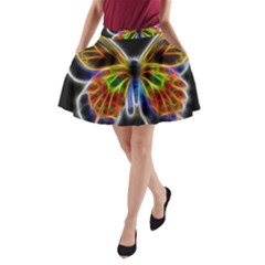 Fractal Butterfly A Line Pocket Skirt by Simbadda