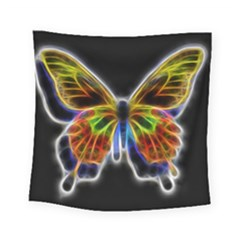 Fractal Butterfly Square Tapestry (small) by Simbadda