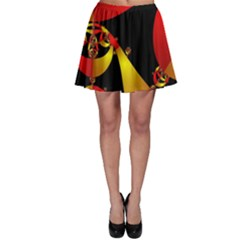 Fractal Ribbons Skater Skirt by Simbadda