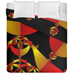 Fractal Ribbons Duvet Cover Double Side (california King Size) by Simbadda