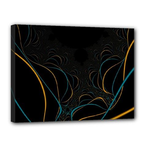 Fractal Lines Canvas 16  X 12  by Simbadda