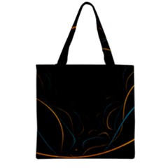 Fractal Lines Grocery Tote Bag by Simbadda