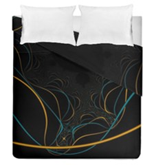 Fractal Lines Duvet Cover Double Side (queen Size) by Simbadda