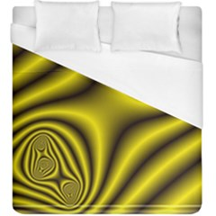 Yellow Fractal Duvet Cover (king Size) by Simbadda