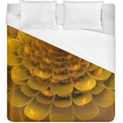 Yellow Flower Duvet Cover (king Size) by Simbadda