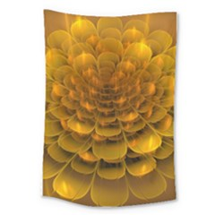 Yellow Flower Large Tapestry