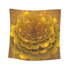 Yellow Flower Square Tapestry (small) by Simbadda