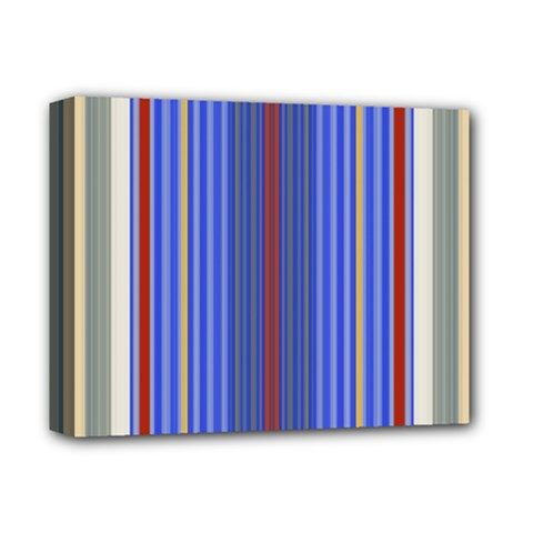 Colorful Stripes Deluxe Canvas 14  X 11  by Simbadda