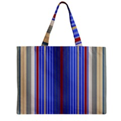 Colorful Stripes Zipper Mini Tote Bag by Simbadda