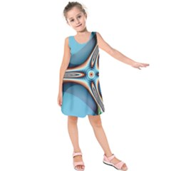 Fractal Beauty Kids  Sleeveless Dress by Simbadda