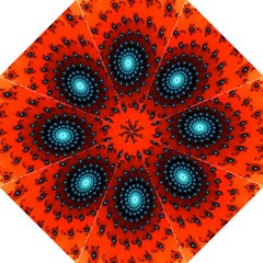 Red Fractal Spiral Folding Umbrellas by Simbadda