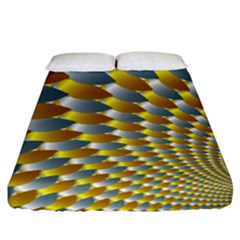 Fractal Spiral Fitted Sheet (king Size) by Simbadda