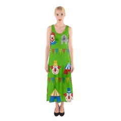 Circus Sleeveless Maxi Dress