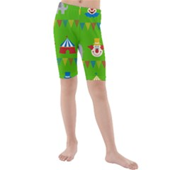 Circus Kids  Mid Length Swim Shorts