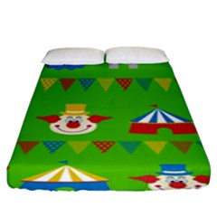 Circus Fitted Sheet (king Size)
