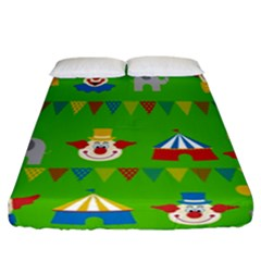 Circus Fitted Sheet (California King Size)