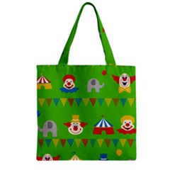 Circus Zipper Grocery Tote Bag