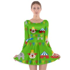 Circus Long Sleeve Skater Dress