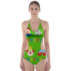 Circus Cut-Out One Piece Swimsuit