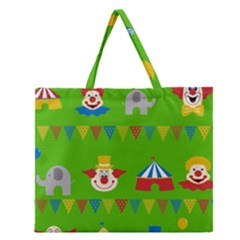 Circus Zipper Large Tote Bag