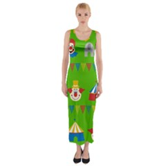 Circus Fitted Maxi Dress