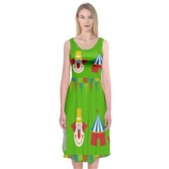 Circus Midi Sleeveless Dress