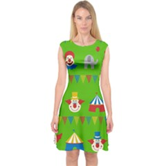 Circus Capsleeve Midi Dress