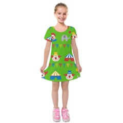 Circus Kids  Short Sleeve Velvet Dress