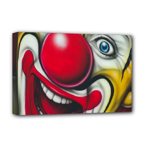 Clown Deluxe Canvas 18  X 12   by Valentinaart