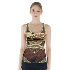 Vintage Circus  Racer Back Sports Top by Valentinaart