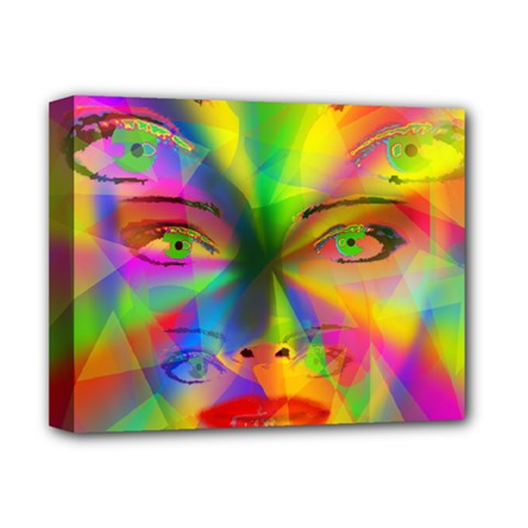 Rainbow Girl Deluxe Canvas 14  X 11  by Valentinaart