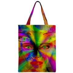 Rainbow Girl Zipper Classic Tote Bag by Valentinaart