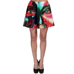 Abstract Girl Skater Skirt by Valentinaart
