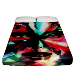 Abstract Girl Fitted Sheet (california King Size) by Valentinaart