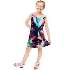 Abstract Girl Kids  Tunic Dress by Valentinaart