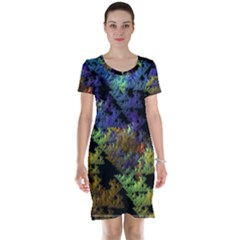 Fractal Forest Short Sleeve Nightdress by Simbadda