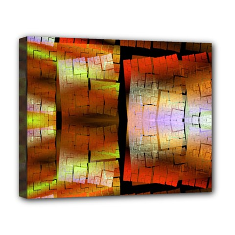 Fractal Tiles Deluxe Canvas 20  X 16   by Simbadda