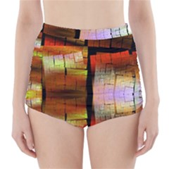 Fractal Tiles High-waisted Bikini Bottoms by Simbadda