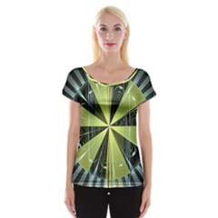 Fractal Ball Women s Cap Sleeve Top by Simbadda